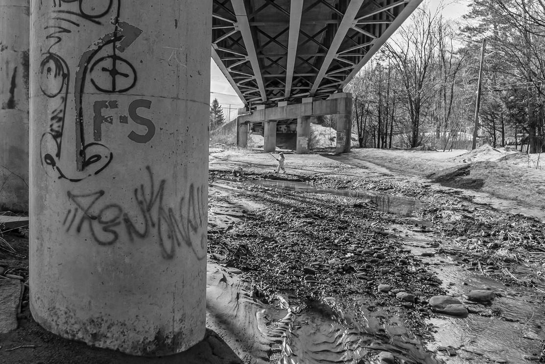 Kids Under Muddy Bridge