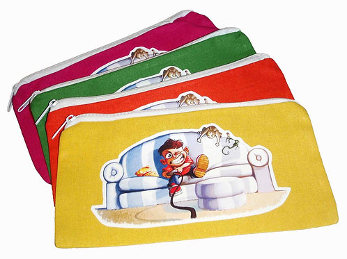 Sofa Boy Zippered Pencil / Crayon Pouch