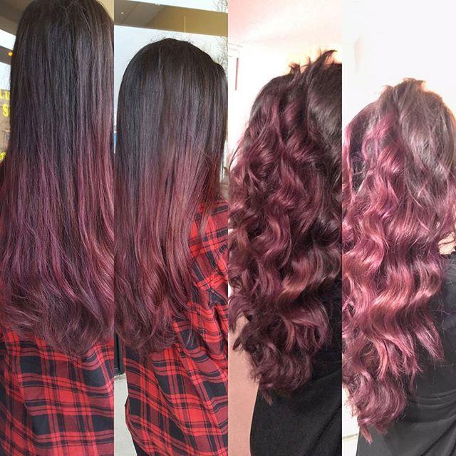 _shelly_kaur_#getacut916 #shadesofpurpule #purple #purplehair #eyebrowsonfleek #hardpart #sacramento