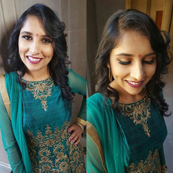 Hair and makeup for pre wedding photoshoot done by _shelly_kaur_#preweddingphotoshoot #prewedding #h