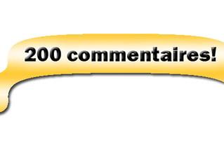 200ème commentaire ! merci