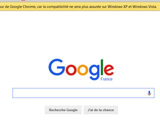 Fin des mises à jour Google Chrome pour Windows XP et Vista