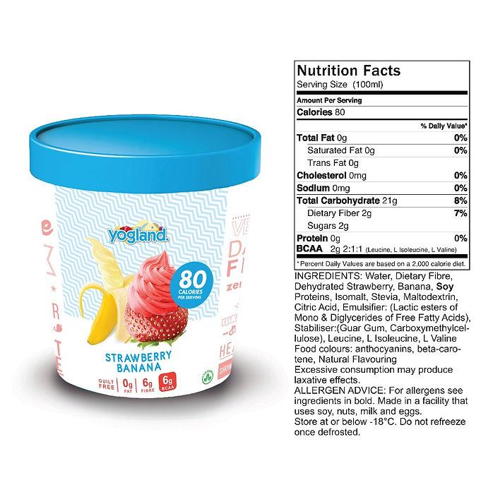 Strawberry Dairy Free Vegan Sorbet
