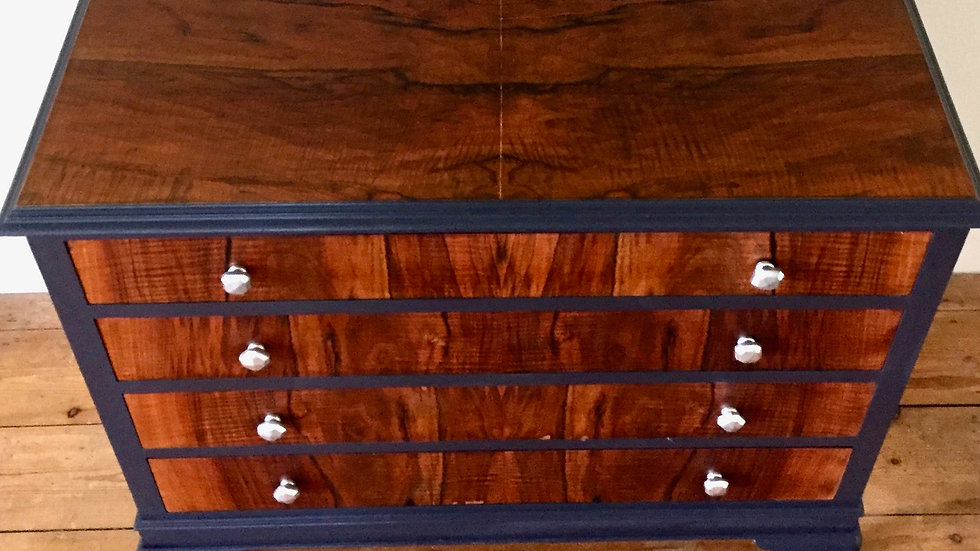 Up-cycled Walnut Chest of Drawers