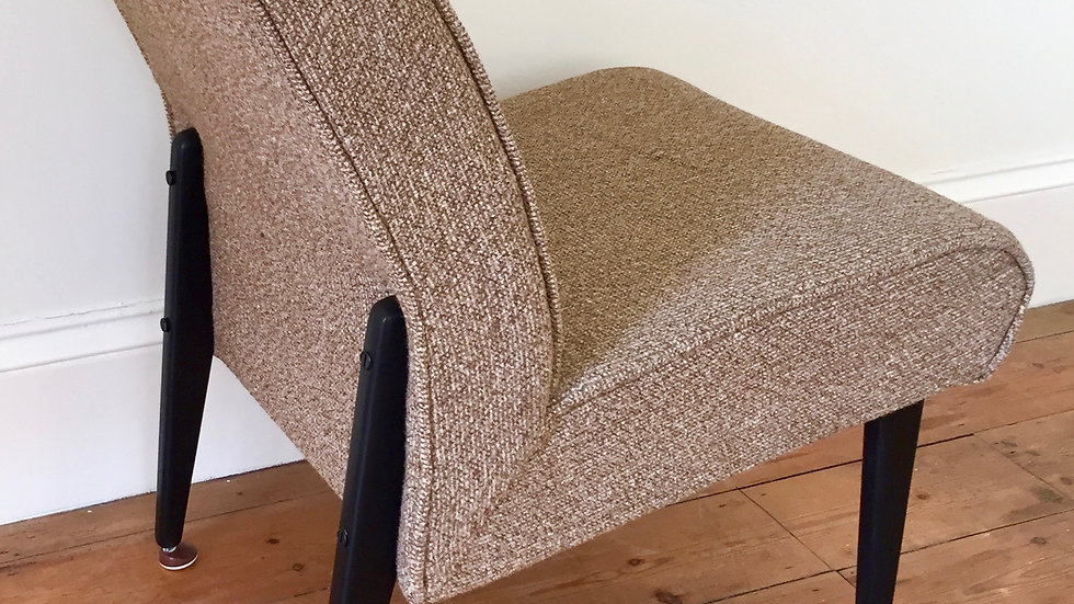 Original Mid Century Upholstered Cocktail Chair