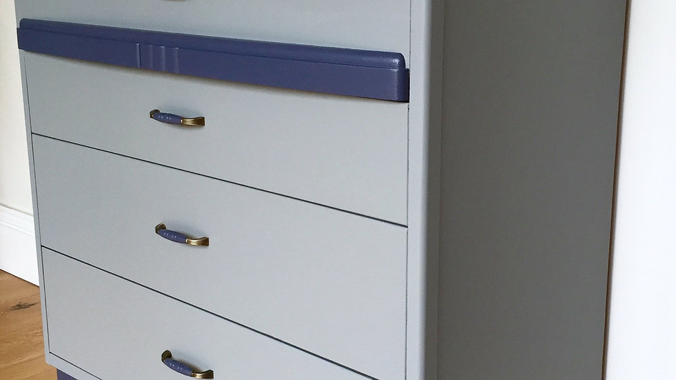 Art Deco Influenced Painted Chest of Drawers