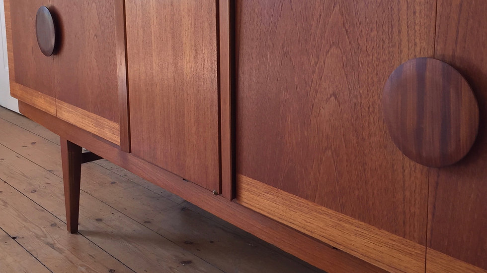 Retro Mid Century Beautility Teak Sideboard with Integral Drinks Cabinet