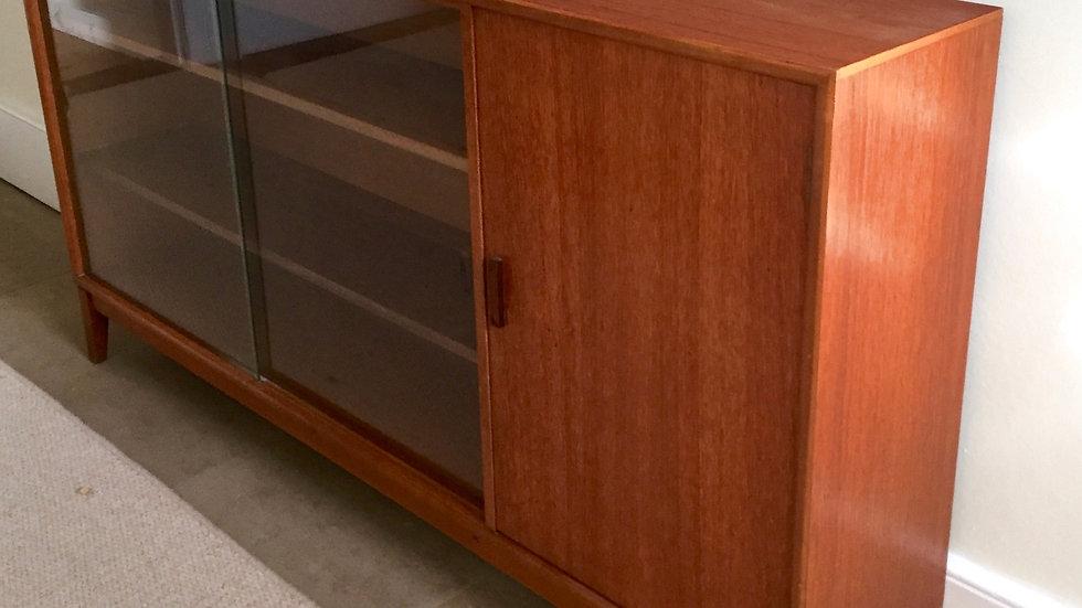 Mid Century Herbert Gibbs Teak Glazed Display/Drinks Cabinet/Bookcase