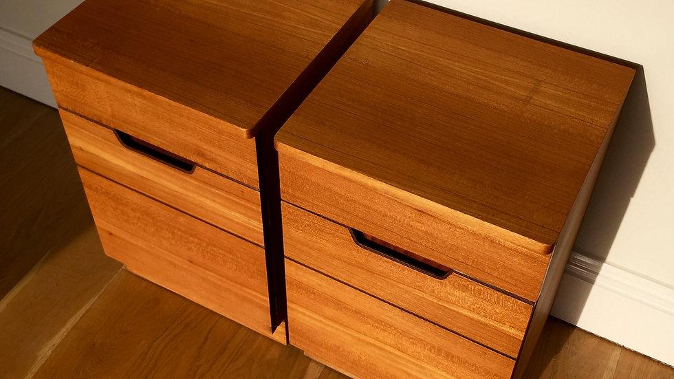 Uniflex Bedside Tables by Gunther Hoffstead