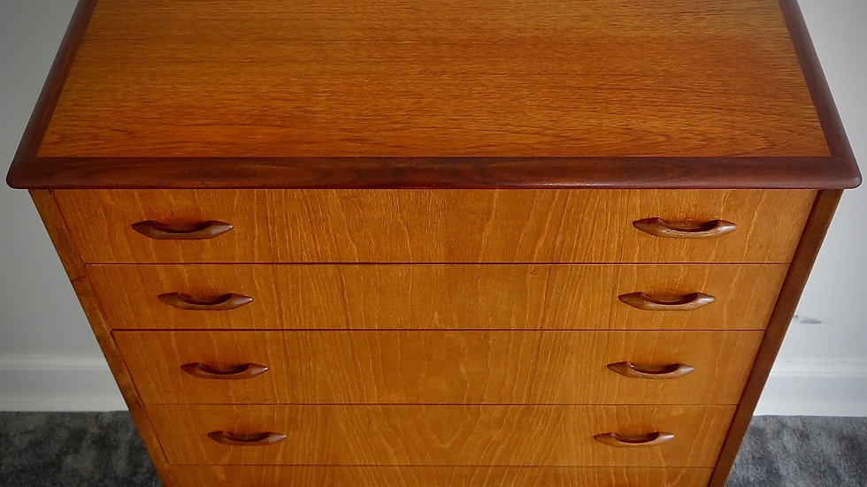 G Plan Mid Century Retro Vintage Teak 6 Drawer Tallboy Chest