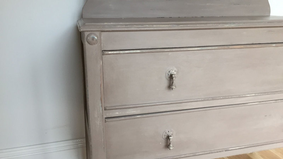 Up Cycled Shabby Chic Antique Barley Twist Chest