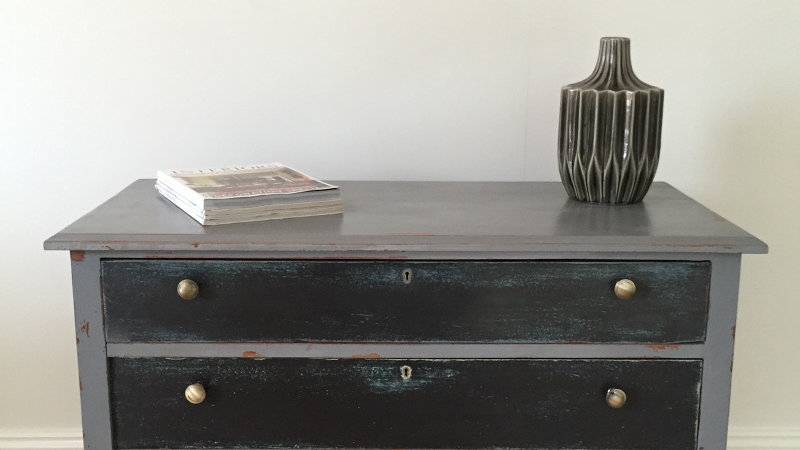 Shabby Chic/Antique Three Drawer Chest