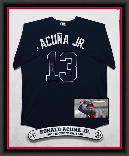 BRAVES Ronald Acuna Jr - Dr Blue Jersey