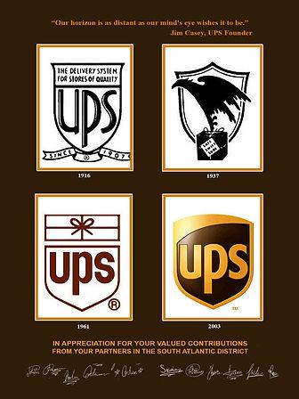 vER XXL UPS logo history brown top 18wx2