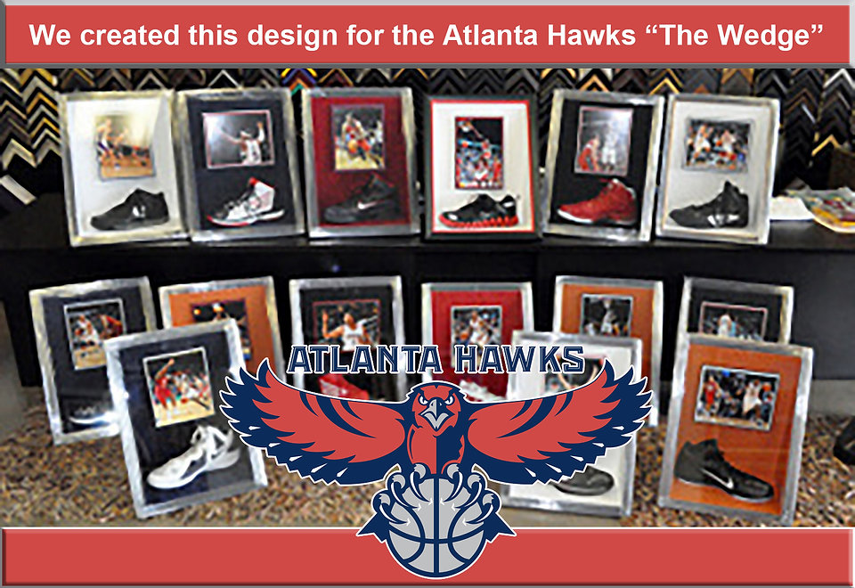 Atlanta Hawks Shadowbox  Shoes for site.
