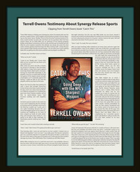 Terrell Owens  book built into shadowbox
