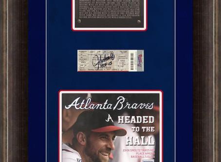 John Smoltz Hall of Fame - Braves Magazine with HOF plaque
