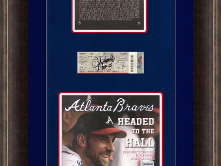 John Smoltz Hall of Fame - Braves Magazine with HOF plaque