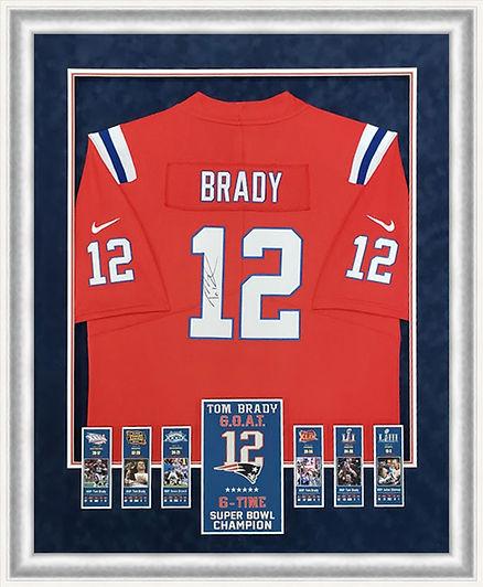 Tom Brady 6X Super Bowl Jersey Framed.jp