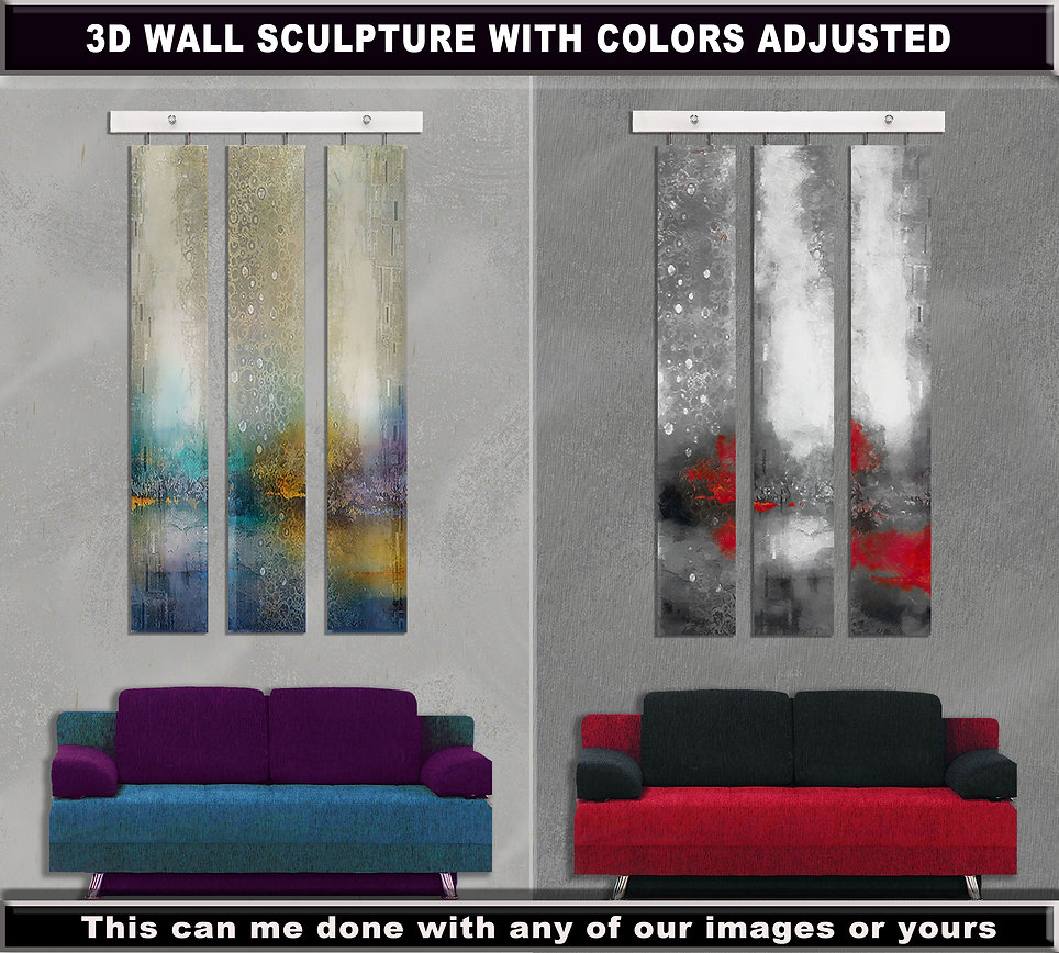 3d wall sculpture with colors adjusted