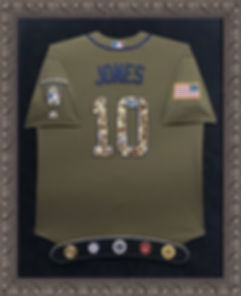 Chipper Jones Jersey with service medall