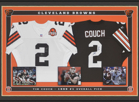 Cleveland browns, double 3D Jersey Shadow Box