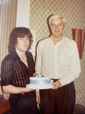 Aged 20 with one parent and a cake