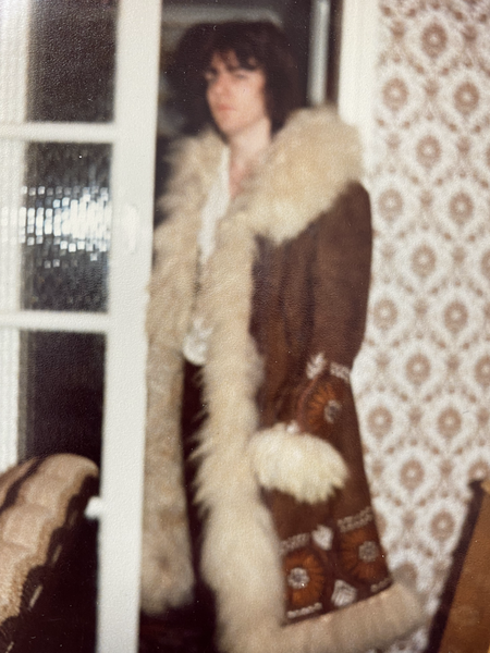 Aged 19 with my 2nd Afghan Coat