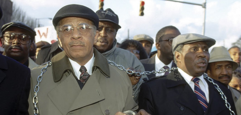 Birmingham Mayor Richard Arrington Protesting Harrassment By Federal Prosecutors