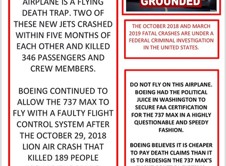 Manager Warned Boeing's CEO and Directors of 737 MAX Concerns Before Crashes