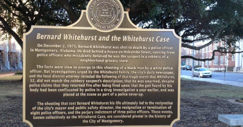 Whitehurst Historical Marker At MPD