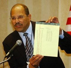 "Watkins Displays His ""Not Guilty"" Notes in Scrushy Case"