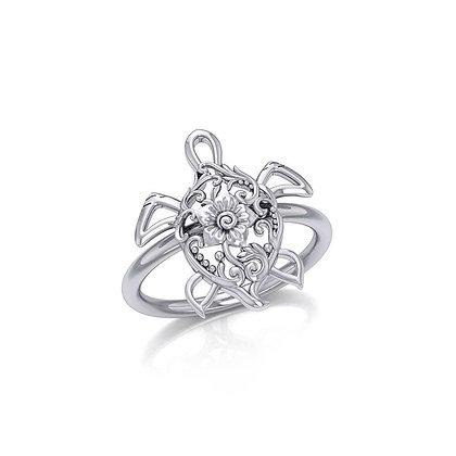 Filigree Turtle Ring