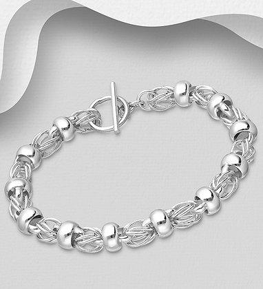 Woven Ball & Link Bracelet