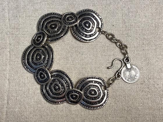 Pewter Overlapping Circles Bracelet