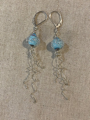 Turquoise Sand Bead Jellyfish Earrings