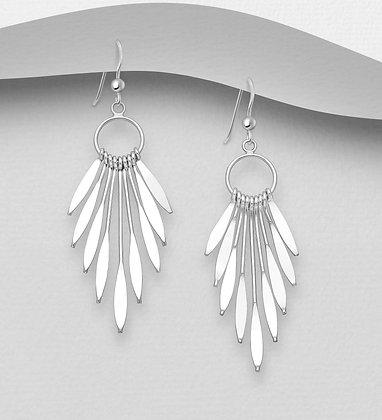 Circle Fan Earrings