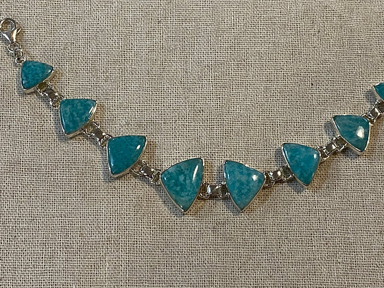 Amazonite Triangles Bracelet