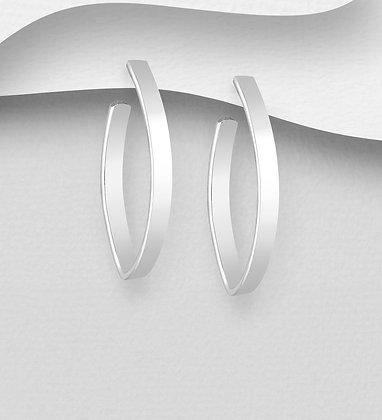 Half Hoop Post Earrings