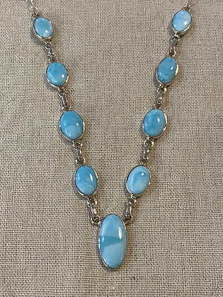 Larimar Ovals Necklace
