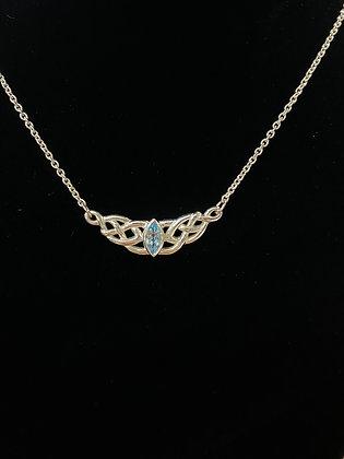 Blue Topaz Celtic Knot Necklace