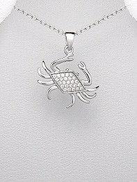 CZ Crab Pendant