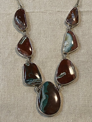 Brown & Turquoise Agate Necklace