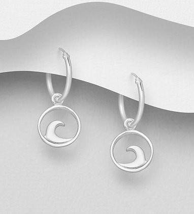 Huggie Hoop Wave Earrings