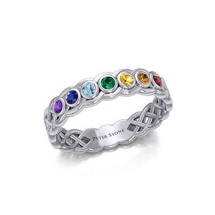 Celtic Chakra Gemstone Ring