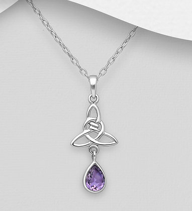 Celtic Knot with Drop Amethyst