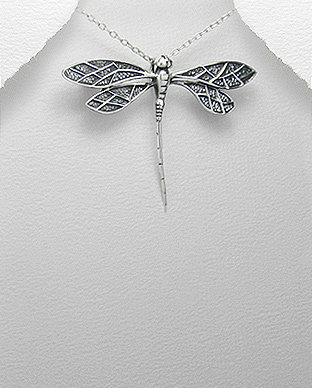 Sterling Silver Large Dragonfly
