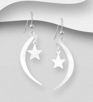 Star & Crescent Moon Earrings