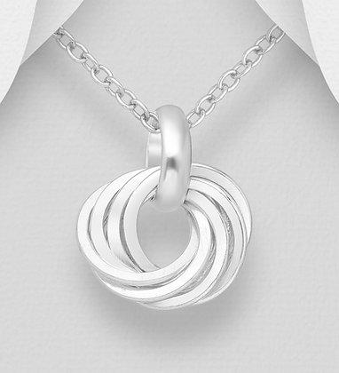Spinning Rings on Circle Pendant