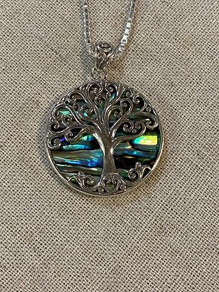 Tree of Life Abalone Pendant